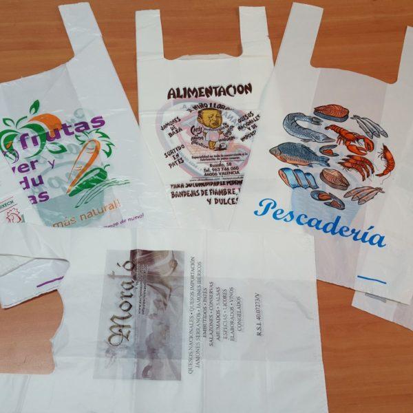 Bolsas de plástico para uso alimentario personalizables
