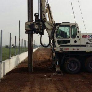 Pilotes de cimentación con equipos de alta tecnología
